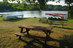 Our Newton Boathouse has a waterfront picnic area, as do all our rental locations.