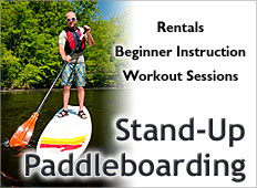 Stand-Up Paddleboarding is the fastest-growing water sport! We offer rentals, instruction, and workout sessions.