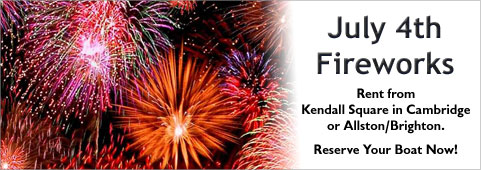 Rent for the July 4th Fireworks from Kendall Square or Allston/Brighton