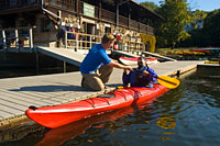 Our Paddling Store at our Newton Boathouse carries a full range of canoes, kayaks, and paddling gear.