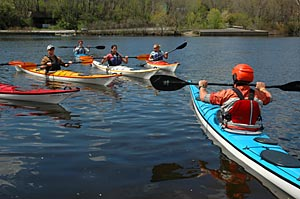 Our kayaking classes will take you from beginner on up.