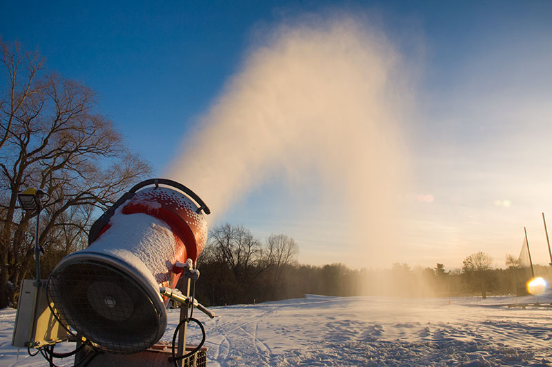 Snow Gun. Click here for snowmaking information.