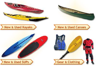 New & Used Kayaks, Canoes, and SUPs, plus gear, clothing, and much more.